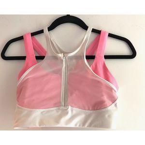Lulu Lemon Pink And White Sports Bra 8